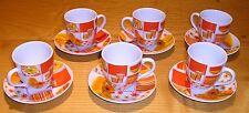 6 tasses soucoupes, vintage années 70 seventies, arcopal ?