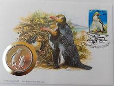 Numisbrief 30 Jahre WWF 1996 New Zealand Gelbaugenpinguin