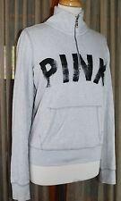 LOVE PINK by Victoria's Secret 1/4 Zip Pullover Lightweight Sweatshirt SMALL