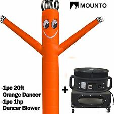 MOUNTO  20ft Wind Fly Dancer Dancing Sky Air Puppet with Blower (Orange)