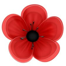 24 icing fairy cake toppers decorations edible - Red Poppy Flower ND1