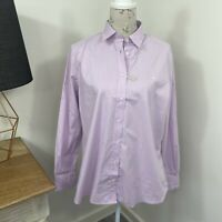 RM Williams Womens Nicole Shirt Purple Long Sleeve Button Front Size 16
