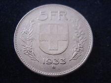 "MDS Svizzera 5 Franchi 1933 B ""Confoederatio Helvetica"", Argento #17"