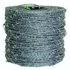 Barbed Wire High-Tensile Barb Wires Fencing Security w/Heavy-Duty Metal Carrier