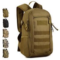 Tactical Outdoor Molle Backpack Nylon Assault Rucksack Laptop Shoulder Day Pack