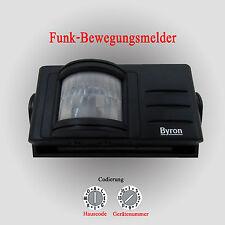 BYRON Funk Bewegungsmelder Batteriebetrieb 110° kompatibel mit DÜWI / Interechno