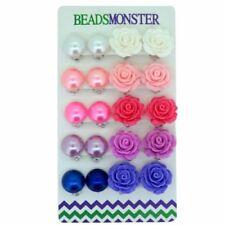 Acrylic Flowers & Plants Stud Fashion Earrings