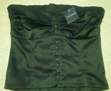 Topshop Waist Length Bandeau Fitted Tops & Shirts for Women