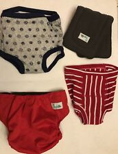 Lot of 3 Adjustable Baby Diaper Covers One Liner - Different Sizes/Brands (11B)