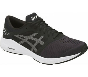 ASICS Road Hawk Ff 38-46 Unisex Running Jogging Competition Shoe Black New