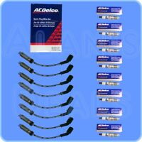 Set of 8 ACDelco Spark Plug Wires W/Heat Shields + ACDelco Spark Plugs For Chevy