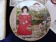 Bradex Collector Plate Abigail In The Rose Garden #1 Nib Paperwork 1986