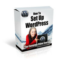 WORDPRESS  SETUP VIDEO TRAINING COURSE With PLR RESELL RIGHTS - CD/DVD