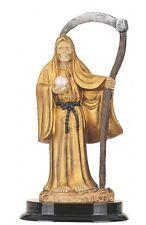 "5"" Inch Gold Santa Muerte Statue Holy Death Grim Reaper Santisima Skull Figurine"
