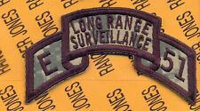 E 51 LRS Long Range Surveillance Airborne Ranger scroll ACU arc tab patch