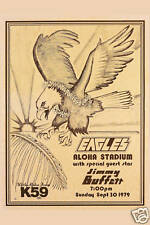 Classic Rock: The Eagles & Jimmy Buffett at Hawaii Concert Poster 1979