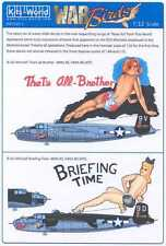 Kits World Decals 1/32 B-25J MITCHELL Bomber That's All Brother & Briefing Time
