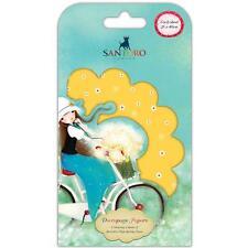 Scrapbooking Crafts Decoupage Paper Santoro Kori Kumi Summertime Yellow 3 Sheets