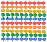 ☀️NEW LEGO 2x2 Bricks 100 Count 5 Assorted Colors Blue green yellow red orange