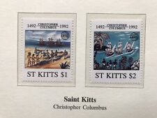 1992 St Kitts , Christopher Columbus Stamps MNH