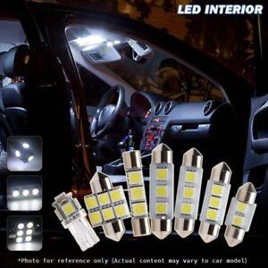 7 PCS White LED SMD Interior Light Bulb Package Kit For Skoda Octavia 2008 up