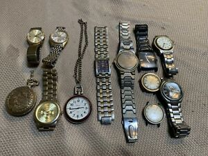 Mens Watch Lot Timex Seiko Fossil Parts, Other