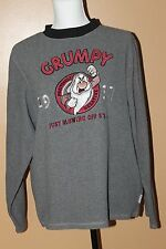 Disney Store Exclusive Grumpy Positively Negative Fleece Sweatshirt Sz S Gray B5