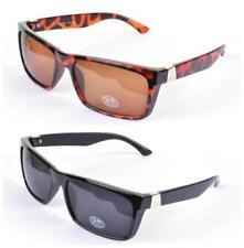 Gafas de sol de hombre Wayfarer negros, con 100% UV400