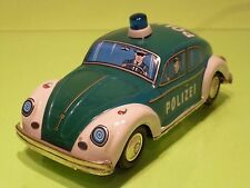 VINTAGE TIN TOY BLECH JAPAN K TOY - VW VOLKSWAGEN BEETLE POLIZEI POLICE - RARE