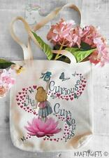 Alice In Wonderland Curious Tote Shopping Grocery Reusable Hand Bag AW03