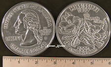 "Big 3"" Metal Coin Replica of a 2002 Mississippi State Quarter - Paperweight"
