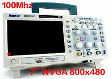 "DSO5102P Hantek Digital Oscilloscope 100MHz 2CH 7"" WVGA US LOCAL 24Hour Ship Out"