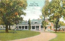 Kansas City Missouri~Country Club~Wide Porch~Folks Relax in Lawn Chairs~1909