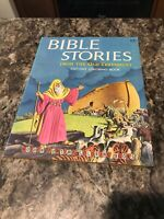 Vtg Golden Funtime Bible Stories From The Old Testament Cut Out Coloring Book