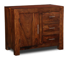 LIVING ROOM FURNITURE SHEESHAM CUBE SMALL SIDEBOARD (C4)