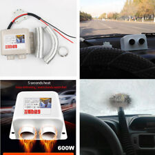 Universal 600W Dual Hot Air Vent Car Floor Heater Window Demister 12V w/ Switch