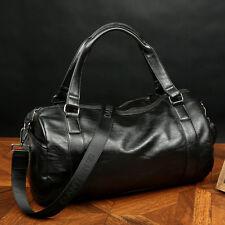 Men's Large Leather Vintage Travel Gym Bag Weekend Overnight Duffle Bag Handbag