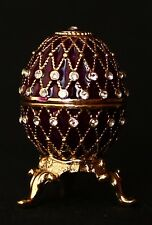 "St Petersburg Russian Faberge Egg: Easter Egg Trinket Box, 1.2"" ""3-Line Net"""