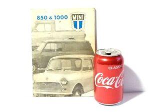 1971 Mini 850 & 1000 Saloon Van Pickup Car Handbook Booklet