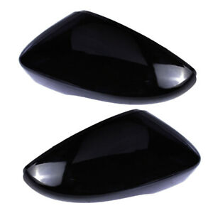 2x Rearview Wing Mirror Cover Cap L&R fit for VW Golf MK6 Touran 5K0857537 ~