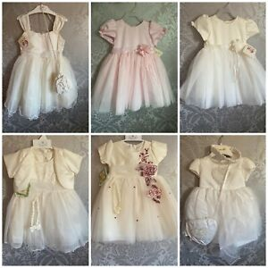 girls wedding party bridesmaid baby christening Birthday Princess Dress  0 - 6 y