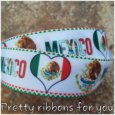 """Mexico.....Mexican 1.5"""" wide grosgrain ribbon the listing is for 5 yards"""