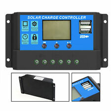 20A USB LCD Solar Panel Battery Regulator Charge Intelligent Controller 12/24V