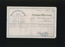 d2 Litho Rechnung Ernst Rose Holzwaren Fabrik Beverungen 1936 !