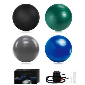 "24 28 36"" Yoga Ball Exercise Anti Burst Fitness Balance Workout Stability W Pump"