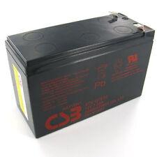 "New 2017 CSB 12v 7.2Ah Sealed Lead Acid Battery GP1272 F2/0.25"" Terminals"