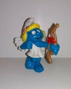 Vintage Smurfs 2 inch Cupid Smurfette Schleich Peyo 1982