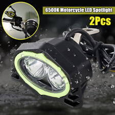 2PCS 6500K Motorcycle LED Spotlight Lighting Beam Driving Working lamp Universal