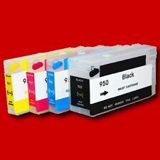 4x Fill in Refill Patronen CISS HP 950 951 HP Officejet Pro 8100 8600 Plus Chip
