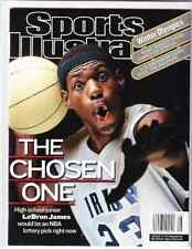February 18, 2002 LeBron James High School RC First Sports Illustrated NO LABEL